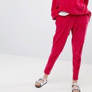 Free People Cherry Plush Jogger Size XS New